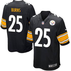 Artie Burns Pittsburgh Steelers Nike Game Jersey - Black