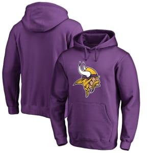 Minnesota Vikings NFL Pro Line by Fanatics Branded Primary Logo Hoodie - Purple