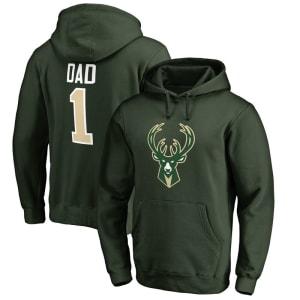 Milwaukee Bucks #1 Dad Pullover Hoodie - Green