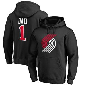 Portland Trail Blazers #1 Dad Pullover Hoodie - Black