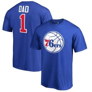 Philadelphia 76ers #1 Dad T-Shirt - Royal