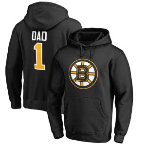 Boston Bruins Fanatics Branded Number One Dad Pullover Hoodie - Black