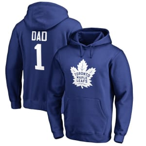 Toronto Maple Leafs Fanatics Branded Number One Dad Pullover Hoodie - Royal