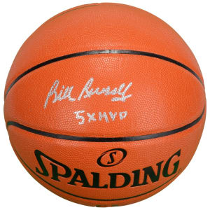 "Bill Russell Boston Celtics Fanatics Authentic Autographed Spalding Indoor/Outdoor Basketball with ""5x MVP"" Inscription"