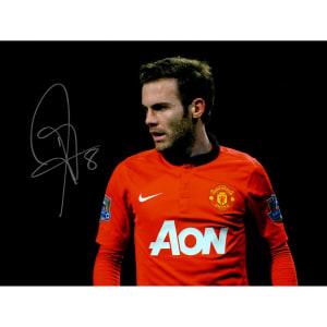 "Juan Mata Manchester United Autographed 12"" x 16"" Pose Photograph - ICONS"