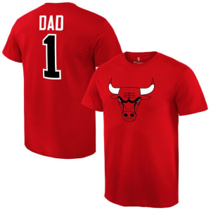 Chicago Bulls #1 Dad T-Shirt - Red