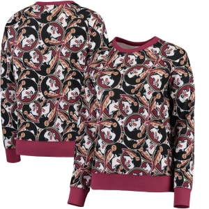 Florida State Seminoles ZooZatz Women's Stacked Mascot Sweatshirt - Garnet