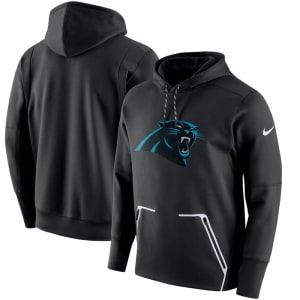 Carolina Panthers Nike Champ Drive Vapor Speed Performance Pullover Hoodie - Black