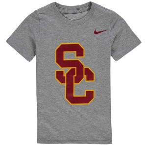 USC Trojans Nike Preschool Logo T-Shirt - Charcoal