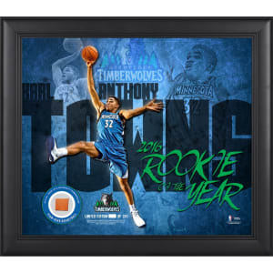 "Karl-Anthony Towns Minnesota Timberwolves Fanatics Authentic 15"" x 17"" 2016 Rookie of the Year Collage with Team-Used Basketball - Limited Edition of 250"