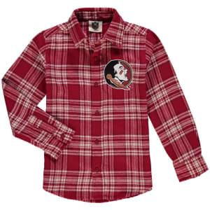 Florida State Seminoles Wes & Willy Preschool Flannel Long Sleeve Shirt - Garnet