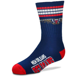 New Orleans Pelicans For Bare Feet Youth 4-Stripe Deuce Quarter-Length Socks