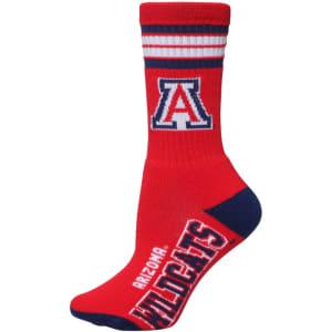 Arizona Wildcats For Bare Feet Women's Four Stripe Socks