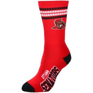 Ottawa Senators For Bare Feet Women's Four Stripe Socks