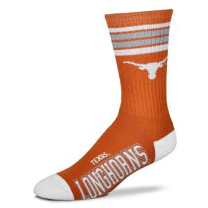 Texas Longhorns For Bare Feet Women's Four Stripe Socks