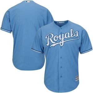 Kansas City Royals Majestic Alternate Big & Tall Cool Base Team Jersey - Light Blue