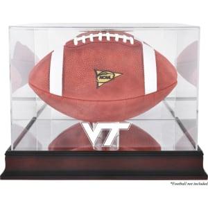 Virginia Tech Hokies Fanatics Authentic Mahogany Base Team Logo Football Display Case with Mirror Back