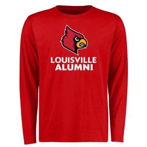 Louisville Cardinals Louisville Alumni Signature Mark Long Sleeve T-Shirt - Red