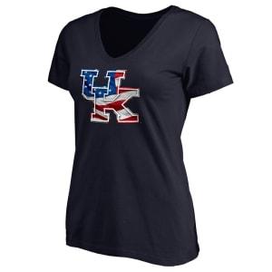 Kentucky Wildcats Women's Banner Wave T-Shirt - Navy