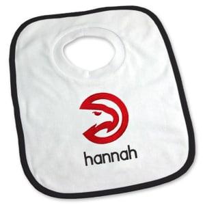 Atlanta Hawks Newborn & Infant Personalized Bib - White