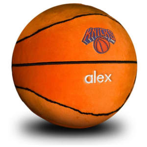 New York Knicks Personalized Plush Baby Basketball - Orange