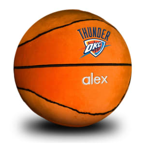 Oklahoma City Thunder Personalized Plush Baby Basketball - Orange
