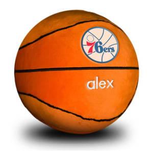 Philadelphia 76ers Personalized Plush Baby Basketball - Orange