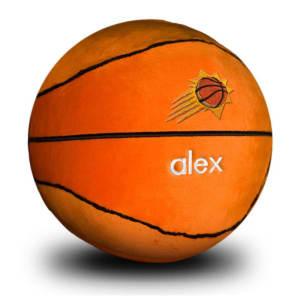 Phoenix Suns Personalized Plush Baby Basketball - Orange