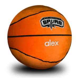 San Antonio Spurs Personalized Plush Baby Basketball - Orange