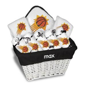 Phoenix Suns Newborn & Infant Personalized Large Gift Basket - White