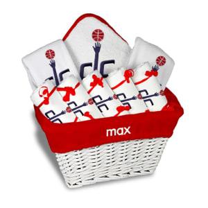 Washington Wizards Newborn & Infant Personalized Large Gift Basket - White