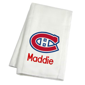 Montreal Canadiens Infant Personalized Burp Cloth - White