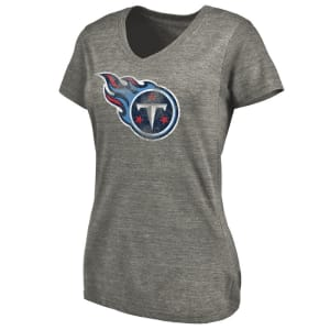 Tennessee Titans NFL Pro Line Women's Distressed Team Tri-Blend T-Shirt - Ash