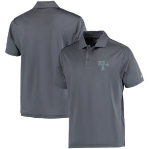 UCLA Bruins Under Armour Solid Performance Polo - Charcoal
