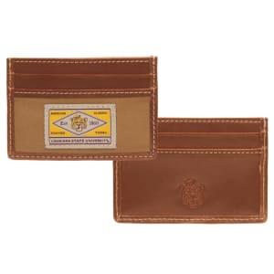 LSU Tigers Vault Slim Card Case - Brown