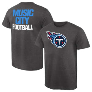 Tennessee Titans NFL Pro Line by Fanatics Branded Rally Logo T-Shirt - Heathered Gray