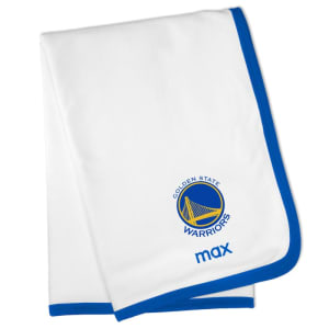 Golden State Warriors Personalized Baby Blanket - White