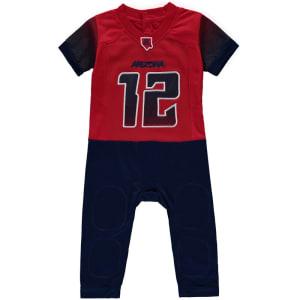 #12 Arizona Wildcats Newborn & Infant Fast Asleep Pajama Jersey Jumper - Red