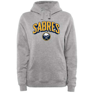 Buffalo Sabres Women's ThreeDee Pullover Hoodie - Ash