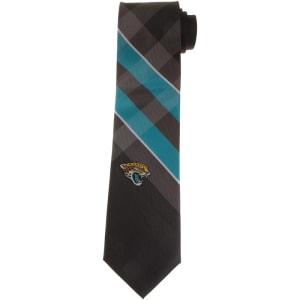 Jacksonville Jaguars Woven Poly Grid Tie