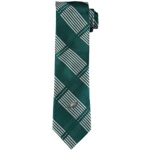 Philadelphia Eagles Skinny Plaid Tie - Midnight Green