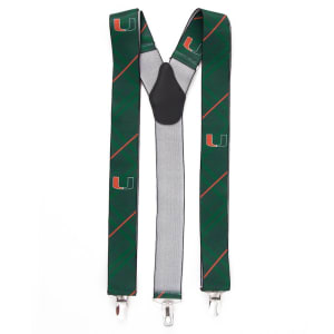 Miami Hurricanes Suspenders - Green