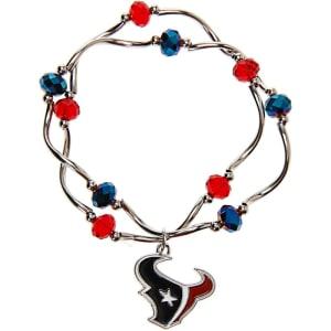 Houston Texans Women's Bead Stretch Bracelet