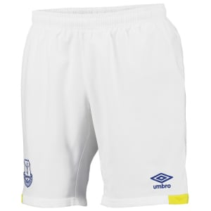 Everton F.C. Umbro Youth Home Shorts - White