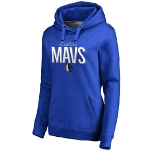 Dallas Mavericks Women's Nostalgia Pullover Hoodie - Royal
