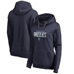 Memphis Grizzlies Women's Nostalgia Pullover Hoodie - Navy