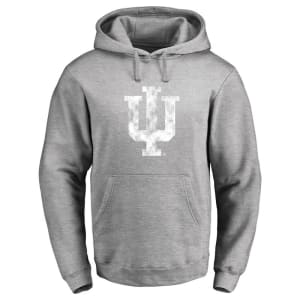 Indiana Hoosiers Classic Primary Logo Pullover Hoodie - Ash