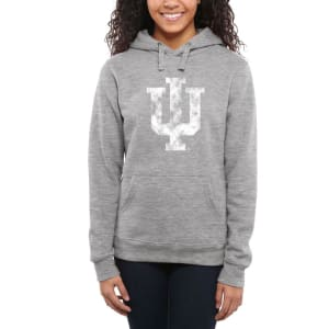 Indiana Hoosiers Women's Classic Primary Pullover Hoodie - Ash