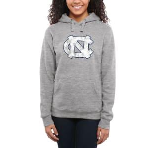 North Carolina Tar Heels Women's Classic Primary Pullover Hoodie - Ash