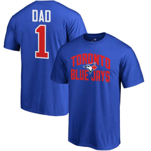 Toronto Blue Jays Fanatics Branded 2019 Father's Day Big & Tall #1 Dad T-Shirt - Blue